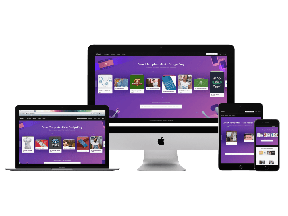 Imac Macbook Pro Ipad Mini And Iphone Mockups